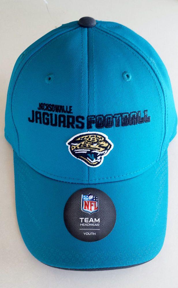 Jacksonville Jaguars NFL Youth Size (8-20) Performance Flex Cap  Hat Teal 6afb06d8a