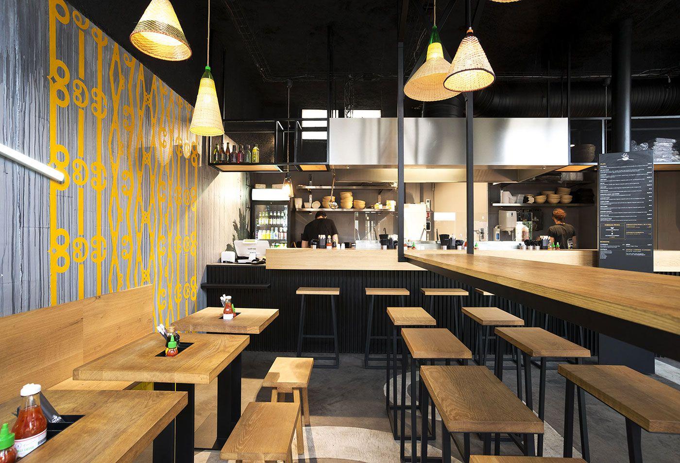 hekla design global pitaya streetfood restaurant tha interior design bois et m tal. Black Bedroom Furniture Sets. Home Design Ideas