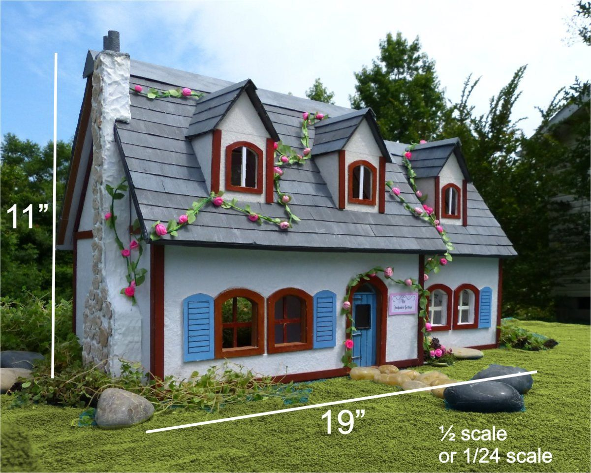 DIY Printable Miniature Cottage Dollhouse Instruction