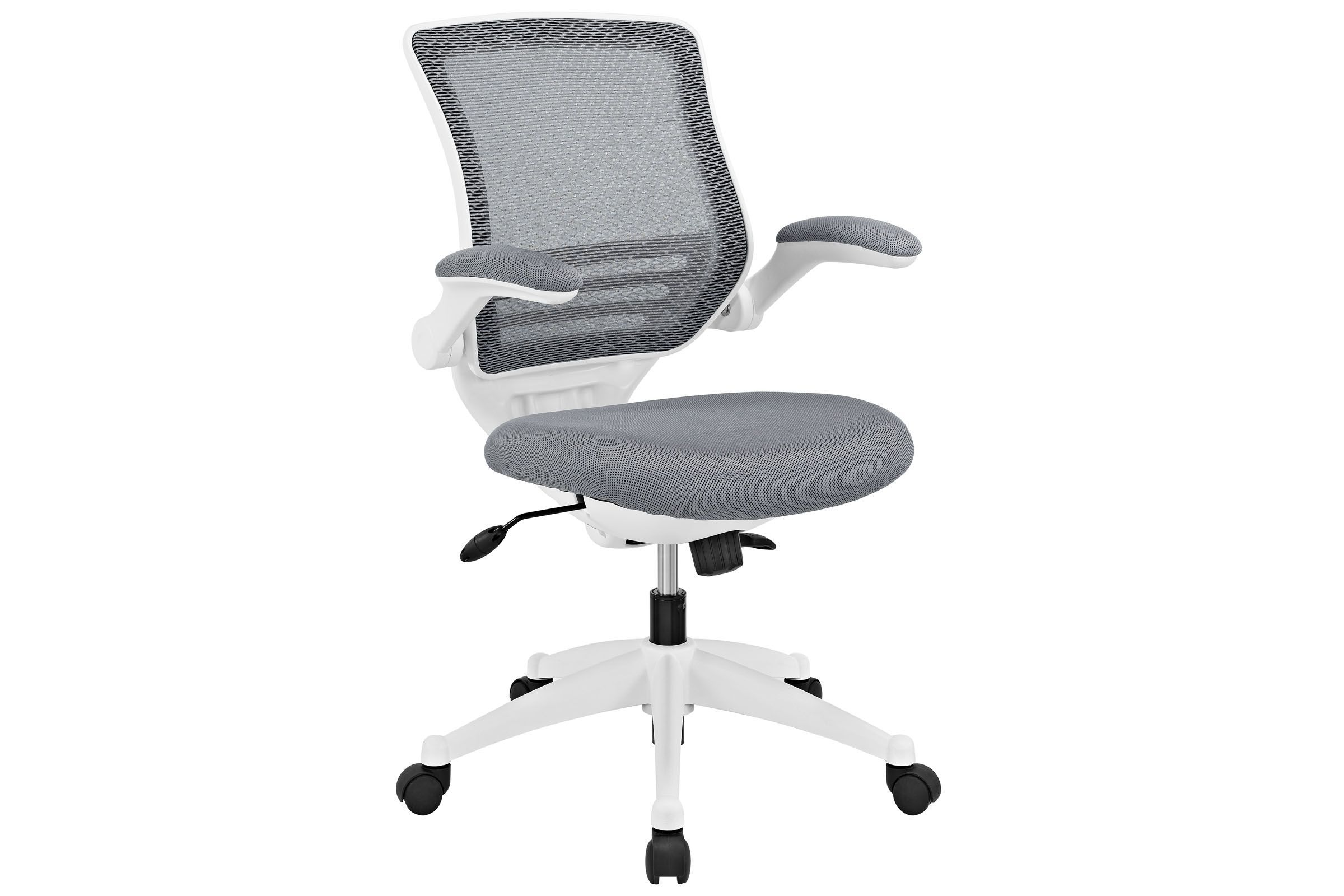 Edge White Base Office Chair In Grey By
