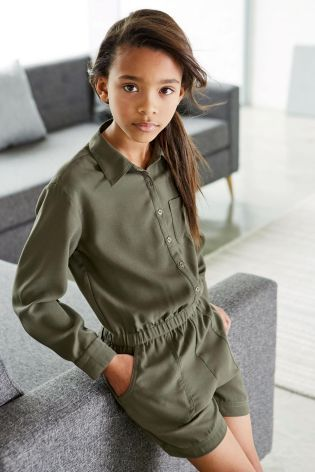 02b647a4f48 Buy Long Sleeve Playsuit (3-16yrs) online today at Next  New Zealand ...