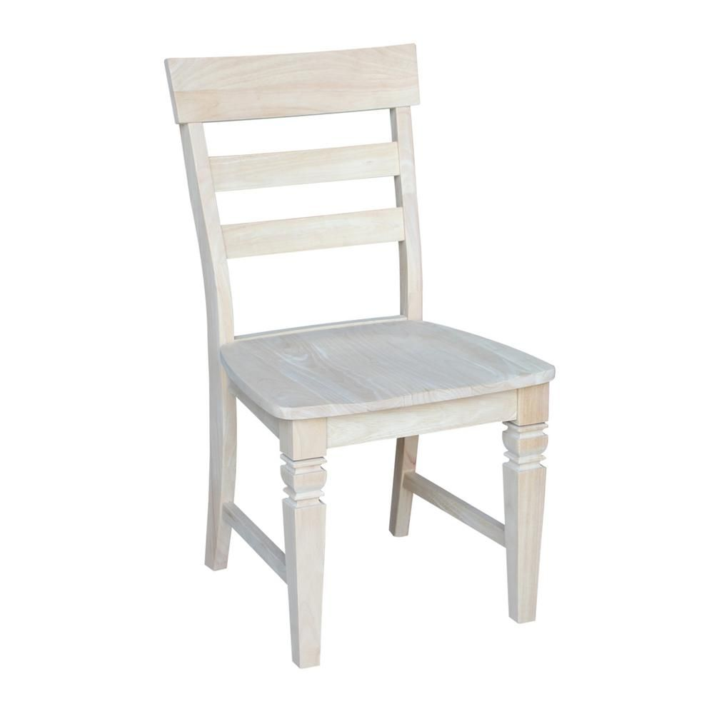 International Concepts Unfinished Wood Dining Chair Set Of 2