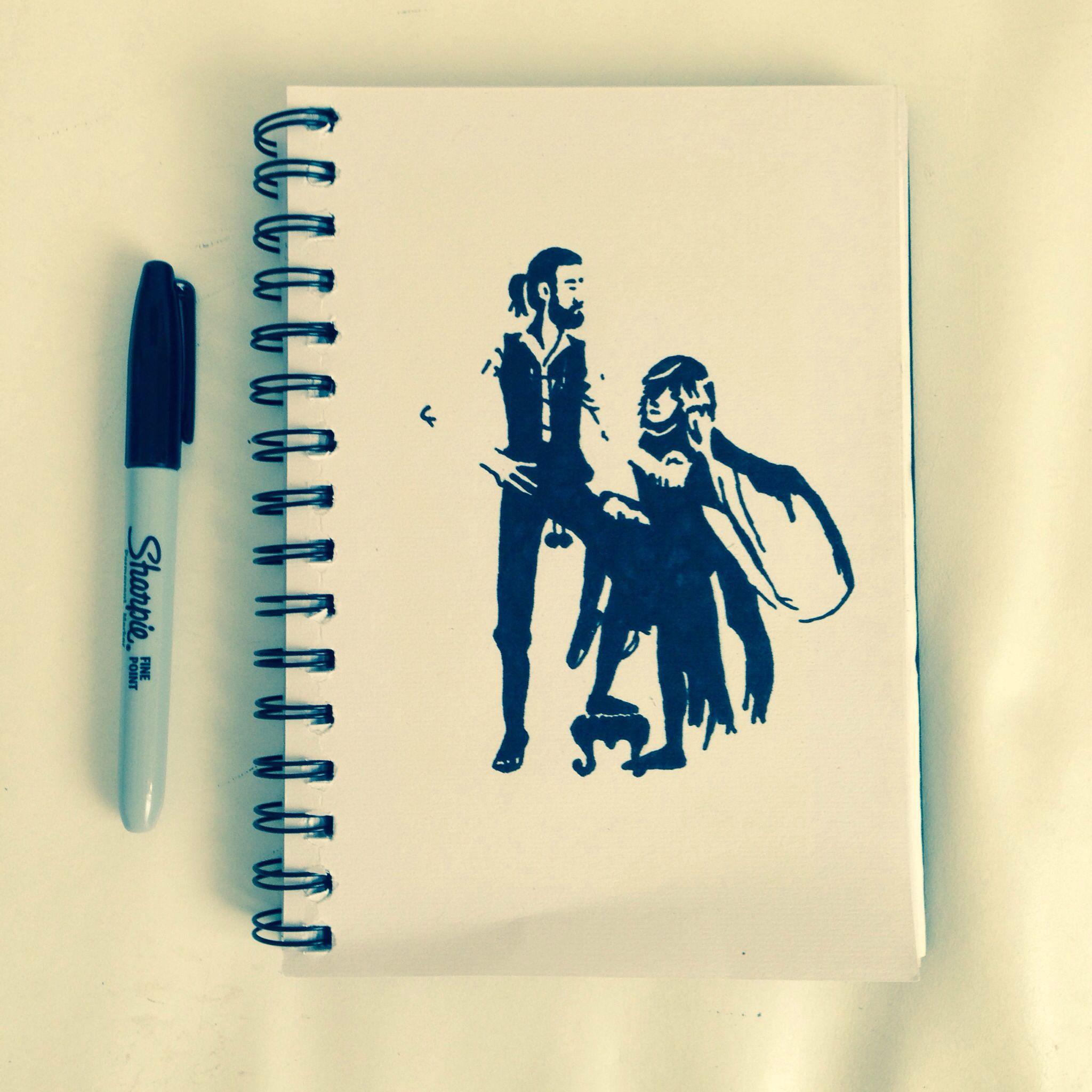 Permanent Sketch Book: Sharpie Sketch Book. Fleetwood Mac. Rumours. Mick