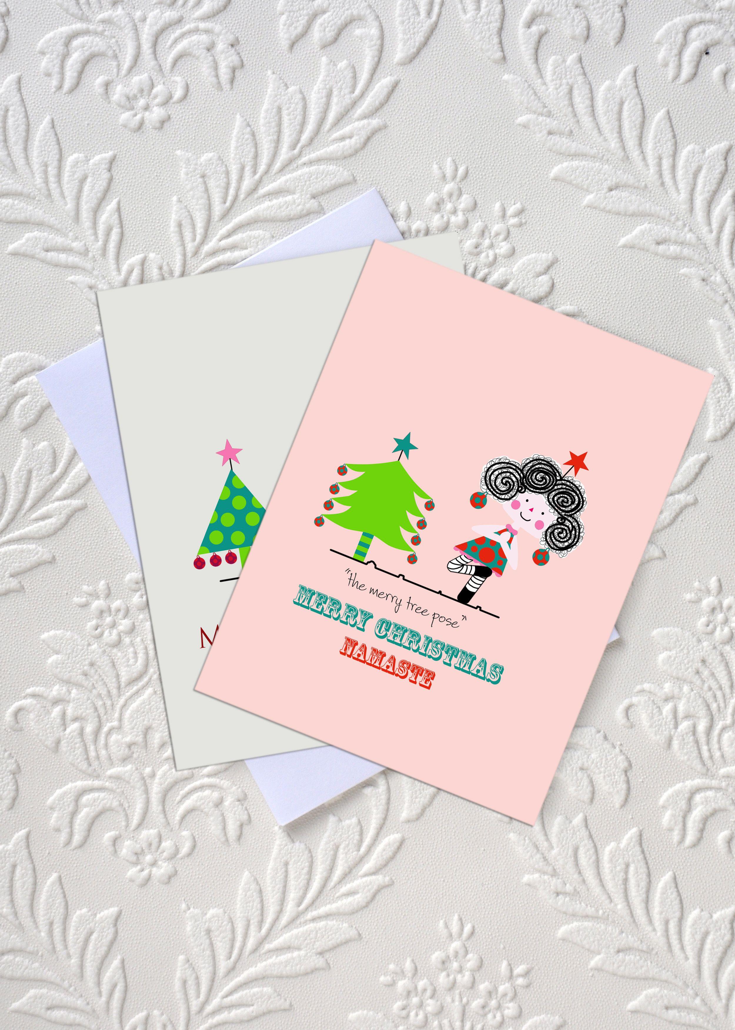 Yoga christmas greeting card the merry tree pose idocaredesigns yoga christmas greeting card the merry tree pose idocaredesigns design by m4hsunfo