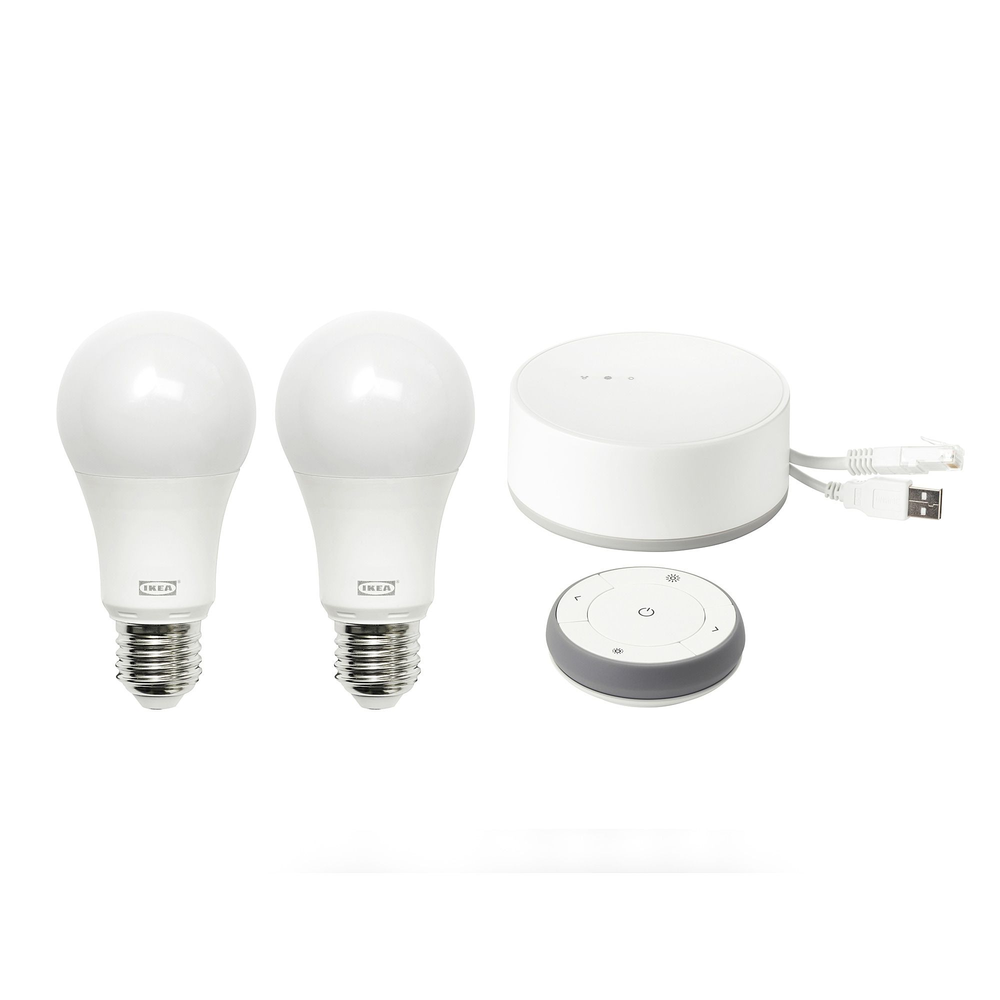 Tradfri Gateway Kit Color And White Spectrum Ikea Led Light Bulbs Light Bulbs Smart Lighting