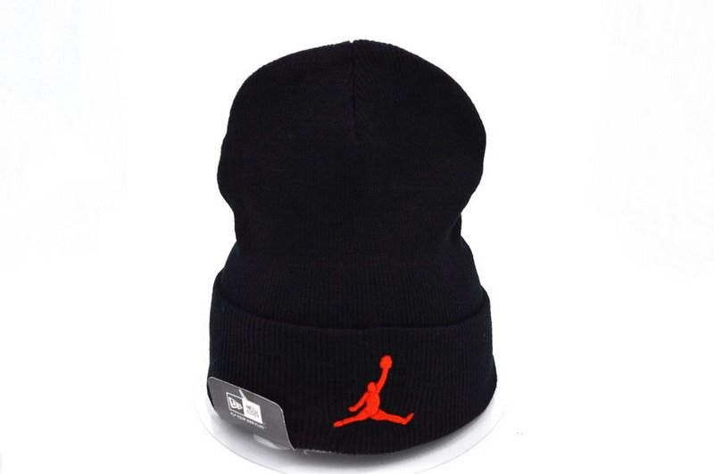 Mens   Womens Air Jordan Best Quality Red Classic Jumpman Embroidery Cuffed  Knit Beanie Cap - Black 0ac18f970b
