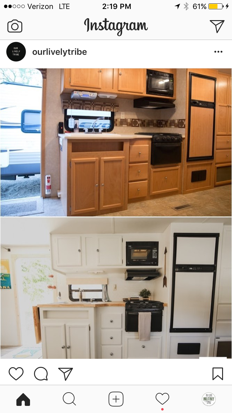 Check Out Their Instagram Account Rv Kitchens Camper