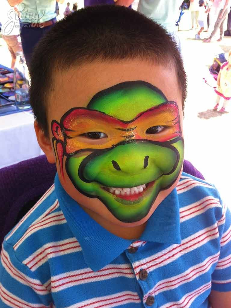 one stroke ninja turtle face painting by susanne daoud at. Black Bedroom Furniture Sets. Home Design Ideas