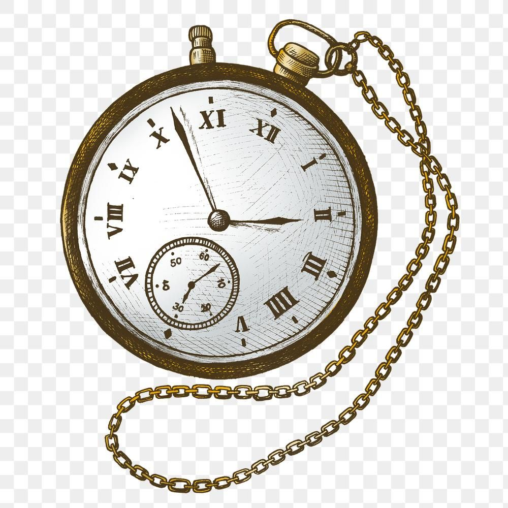 Hand Drawn Retro Pocket Watch Design Element Free Image By Rawpixel Com Hein Pocket Watch Drawing How To Draw Hands Design Element