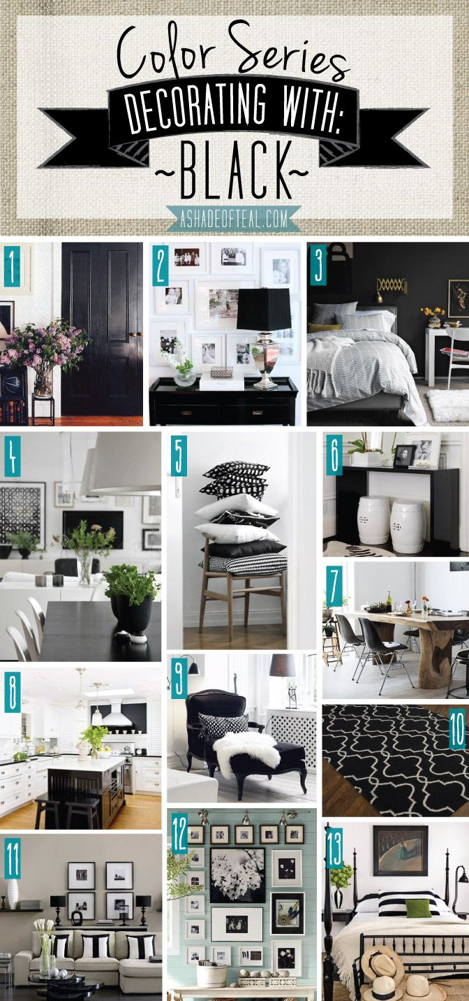 color series decorating with black a shade of teal blog home rh pinterest com