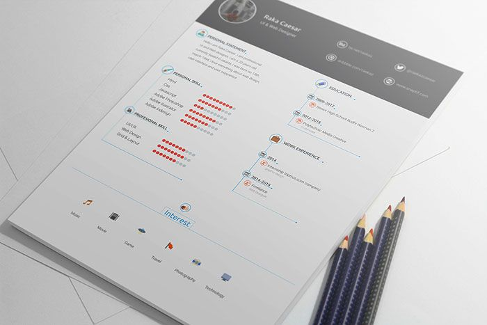 Resume cv template free download Places to Visit Pinterest - resume cv templates free