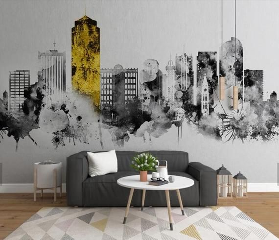 3d Watercolor Gold Foil Architecture Wallpaper Removable Etsy In 2021 Home Wallpaper Mural Wallpaper Wall Murals