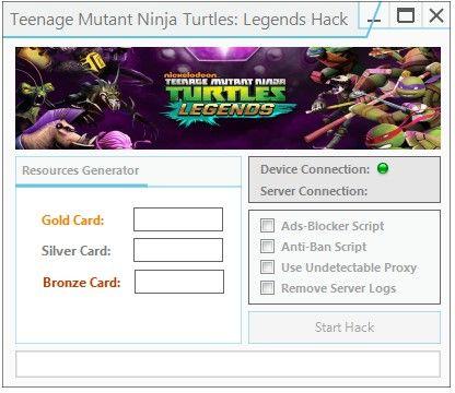 Unlock Gold Card And Silver Card Utilizing Tmnt Legends Hack