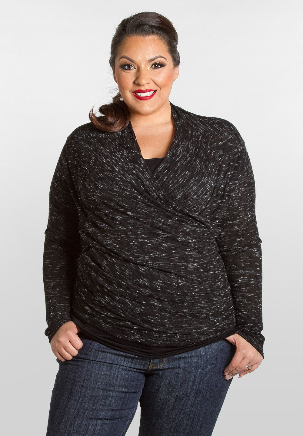 f6bb27c00b25a NEW Plus Size Lorena Wrap Cardigan - Black Size 1X-6X Shop  www.curvaliciousclothes
