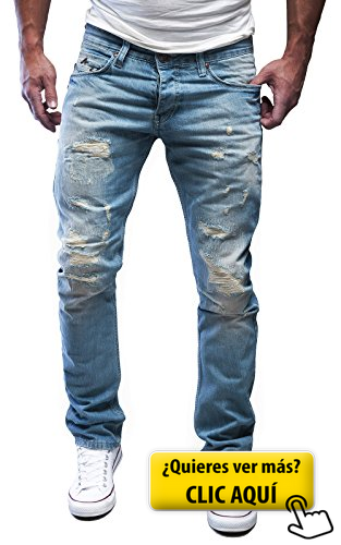 2bf01eb8bf4 MERISH Vaqueros para Hombre Straight-Fit... #pantalones | pantalon ...