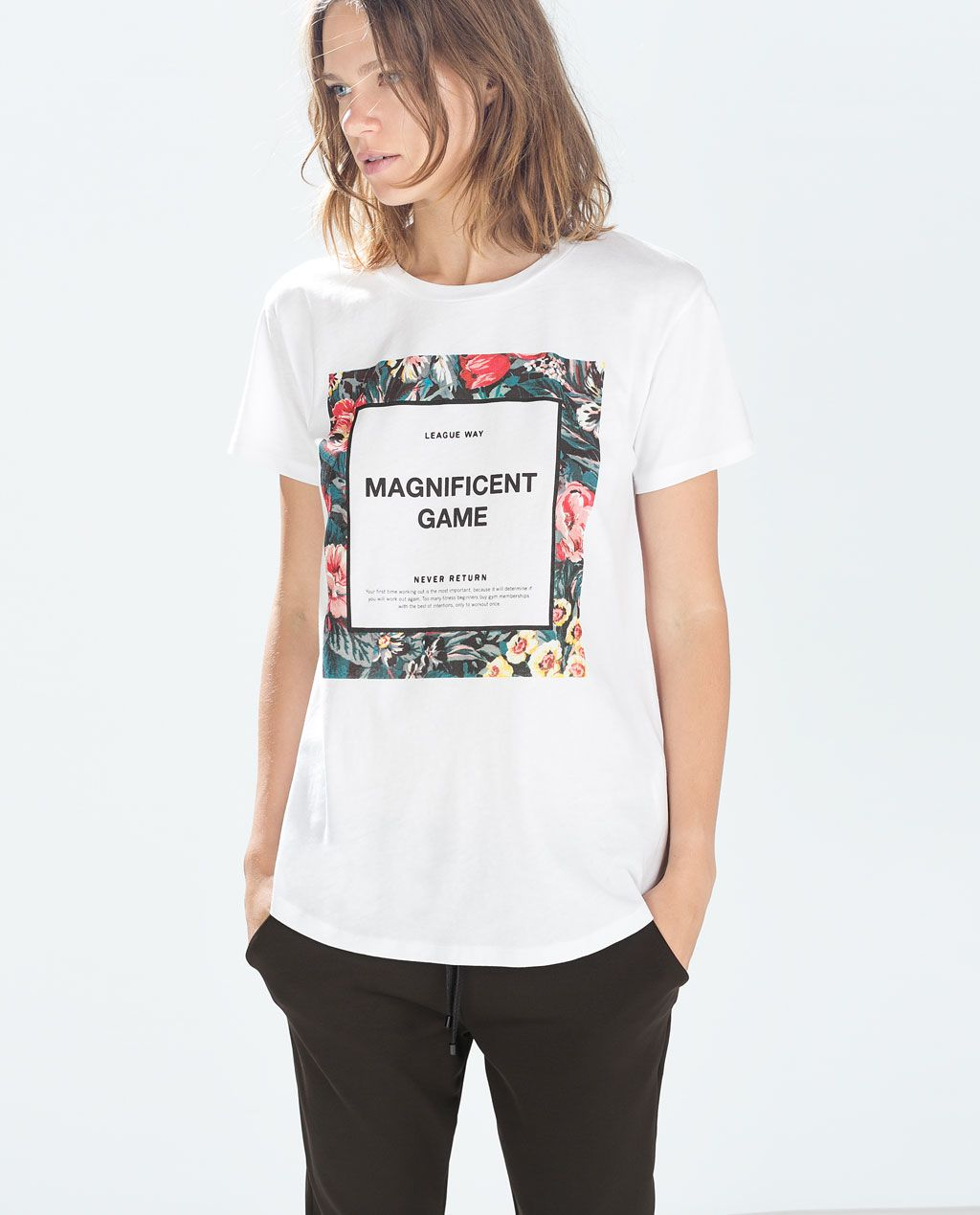 12043f3c6 Image 1 of FLORAL PRINT T-SHIRT from Zara | Fashion Wish LIst in ...