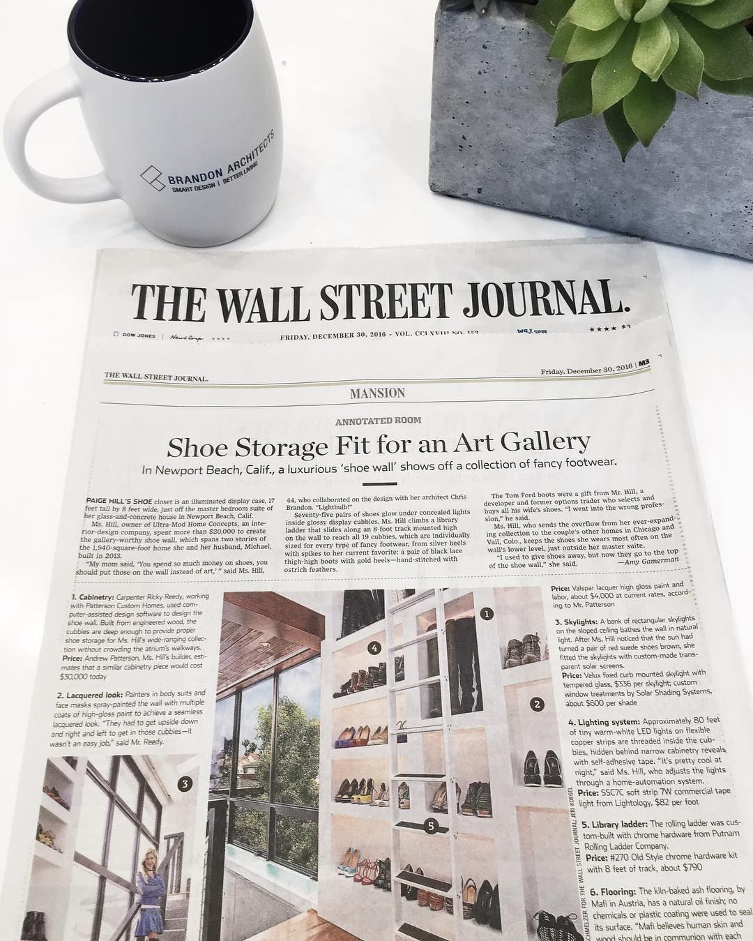 we are honored to be featured in today s issue of wall on wall street today id=22634