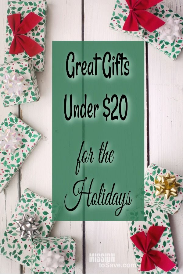 During the Holiday season many people are on the hunt for great gifts that don't bust the budget. Check out these great gift finds that are all under $20! #holidaygifts #christmasgifts #budgetholiday #savemoney