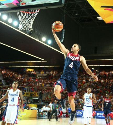 2014 Fiba World Cup Usa Vs Dominican Republic 9 3 14 2014 Fiba Basketball World Cup Wardell Stephen Curry Golden State Warriors Team Usa Basketball