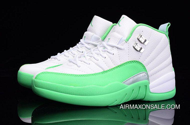 jordan retro 12 green and white