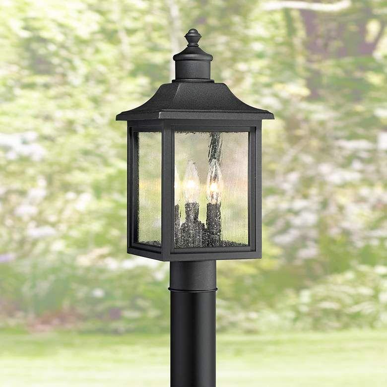 Moray Bay 17 High Black 3 Light Outdoor Post Light 42f28 Lamps Plus In 2020 Outdoor Post Lights Lamp Post Lights Post Lights