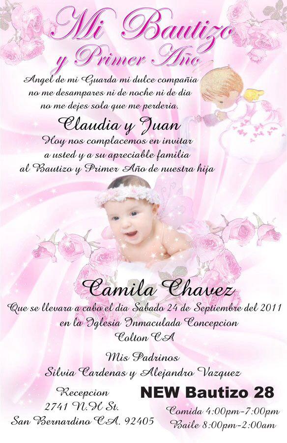 Baptism Invitations In Spanish - Premium Invitation Template Design | Bliss Escape
