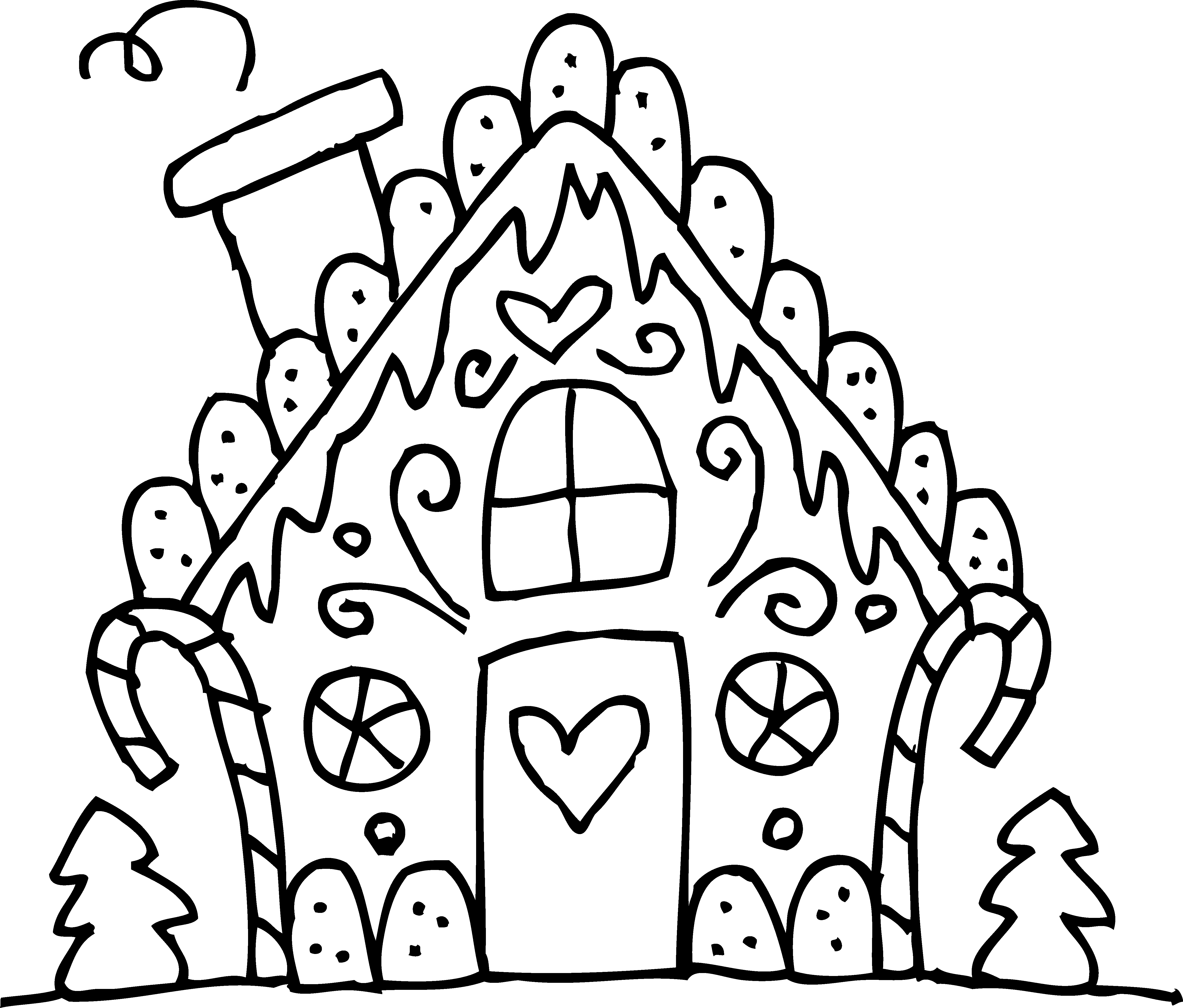 how to make a gingerbread house clipart House colouring