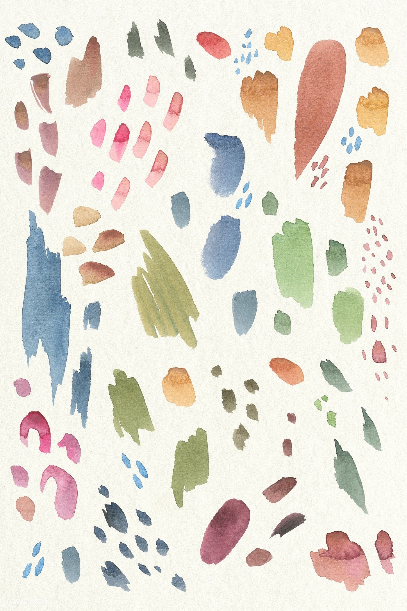 Colorful Watercolor Brush Strokes Background Illustration Free