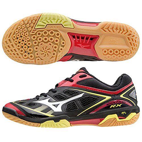 mizuno badminton shoes Wave Fang RX White Black Red (09) 71ga1505 6 ... 130d8772b