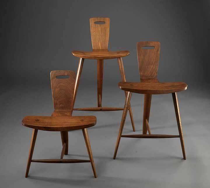Furniture Design Education tage frid - three legged stool in three heights - furniture