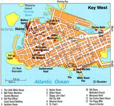 Florida Attractions Map.Key West Key West Map Attractions Always A Great Time In Key