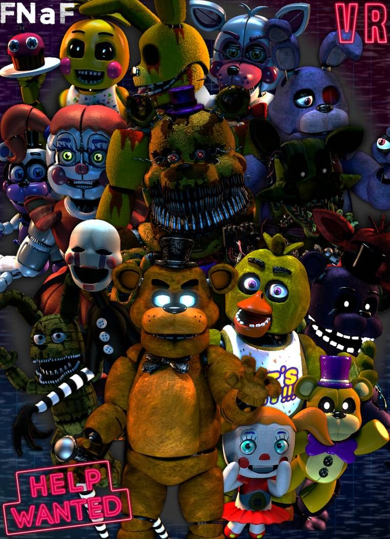 FNaF Help Wanted by luizcrafted on DeviantArt Anime fnaf