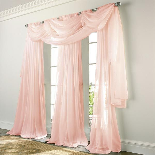 Check out the deal on Elegance Voile PINK Sheer Curtain at ...