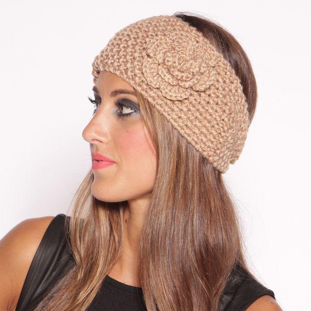 Knit Flower Headband Camel Knit Flowers Flower Headbands And