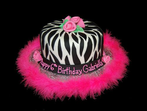 Did This For Leeanne S Birthday And It Was A Hit Wish I D Been Able To Find The Pink Boa For The 6th Birthday Cakes Zebra Birthday Cakes Pink Zebra Birthday