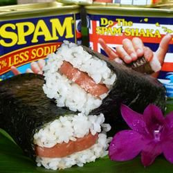Spam musubi - my comfort food!! This link is to a great recipe for it!