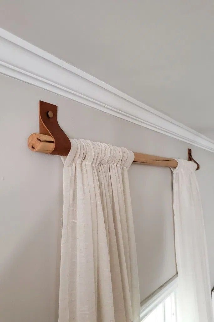 Pin By Emily Barrett On Coastal Curtain Rods In 2020 Wood