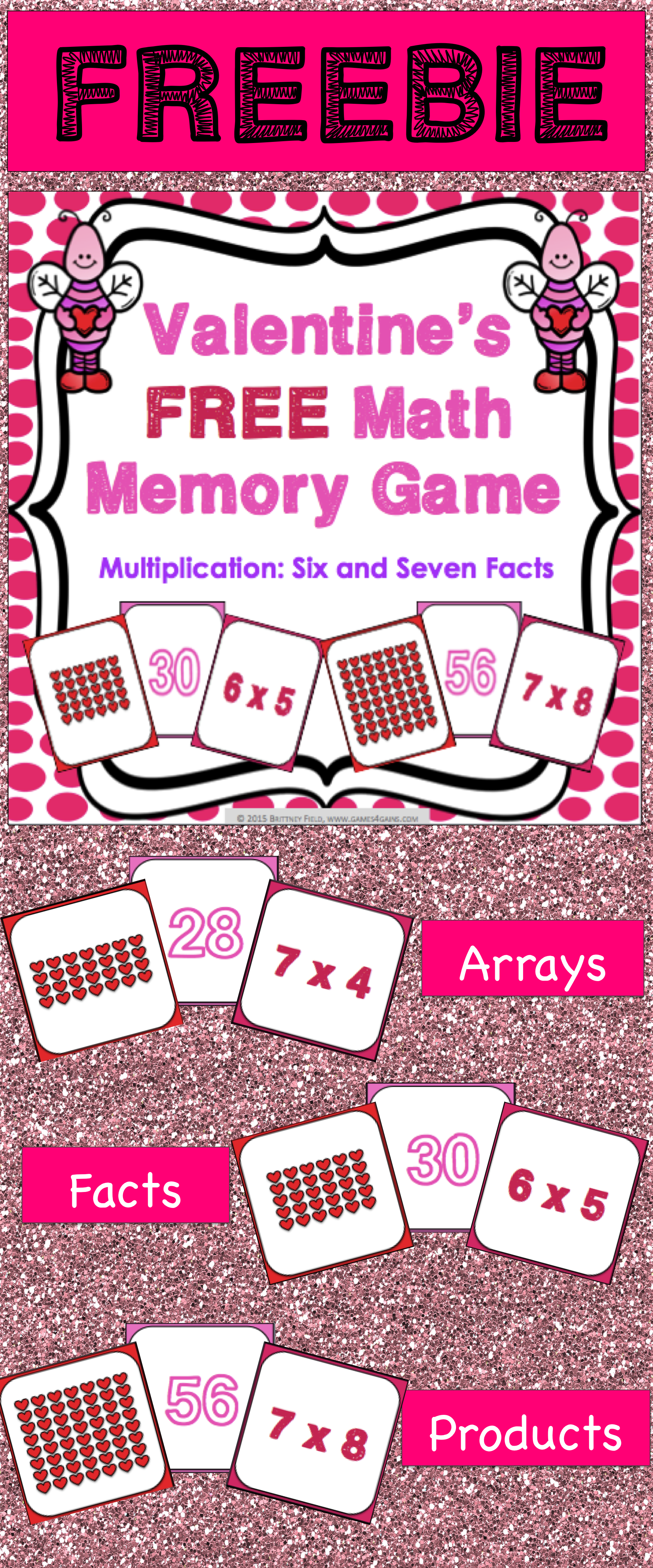 Valentine S Day Free A Valentine S Day Multiplication Facts Game
