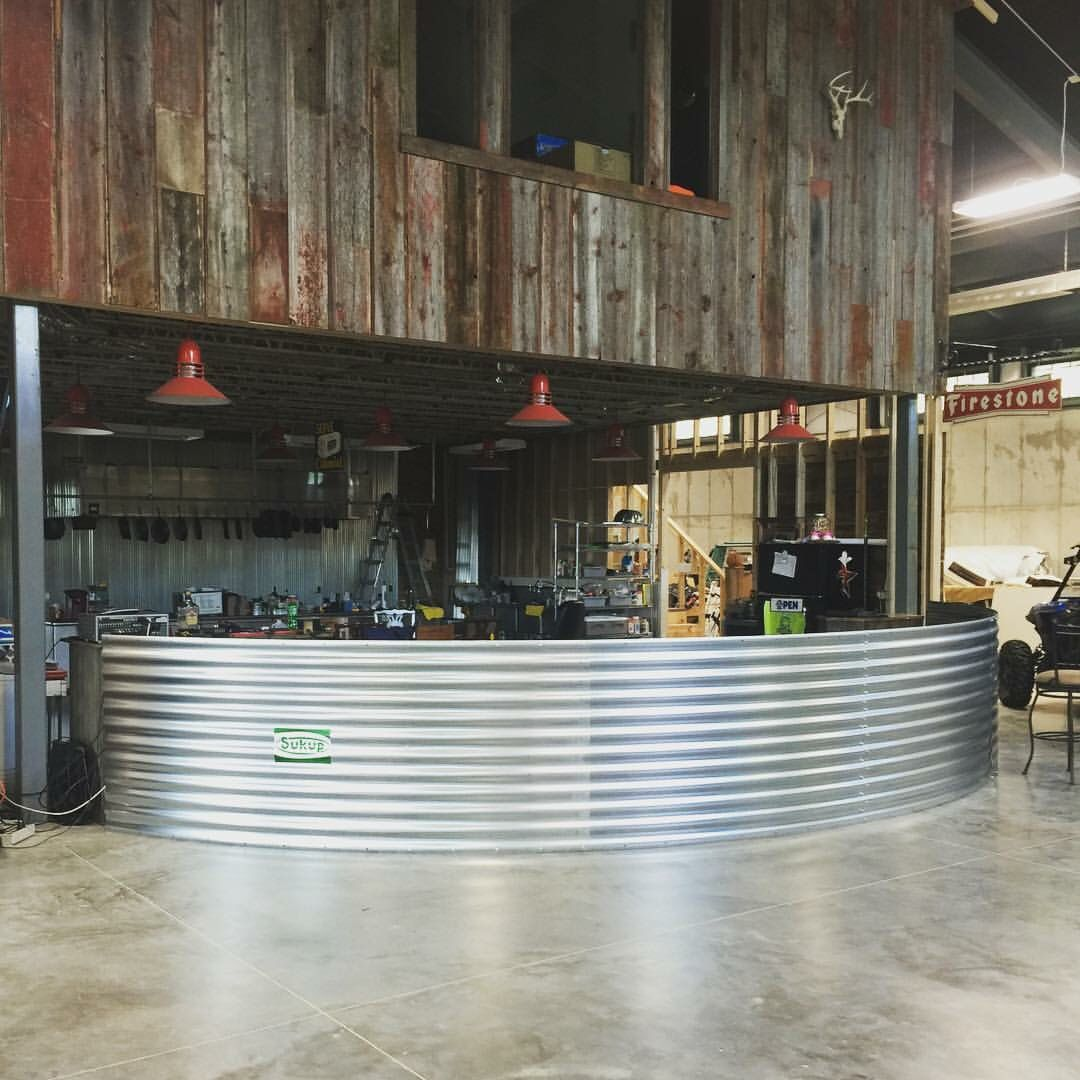 Grain Bin Bar Front Garage Bar Garage House Diy Pole Barn