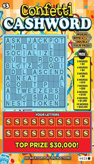 Cashword prizes for mega