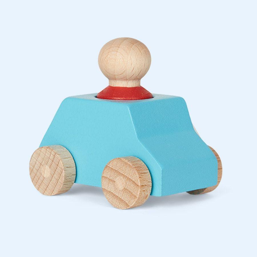 Lubulona Wooden Toy Car Turquoise I