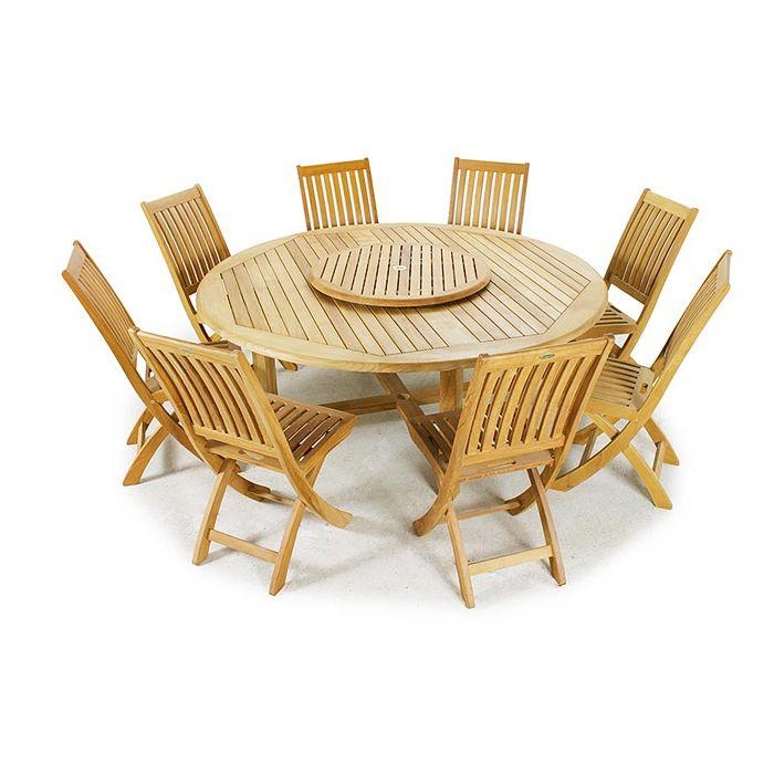 Buckingham 9pc Teak 6ft Round Dining Set By Westminster Teak