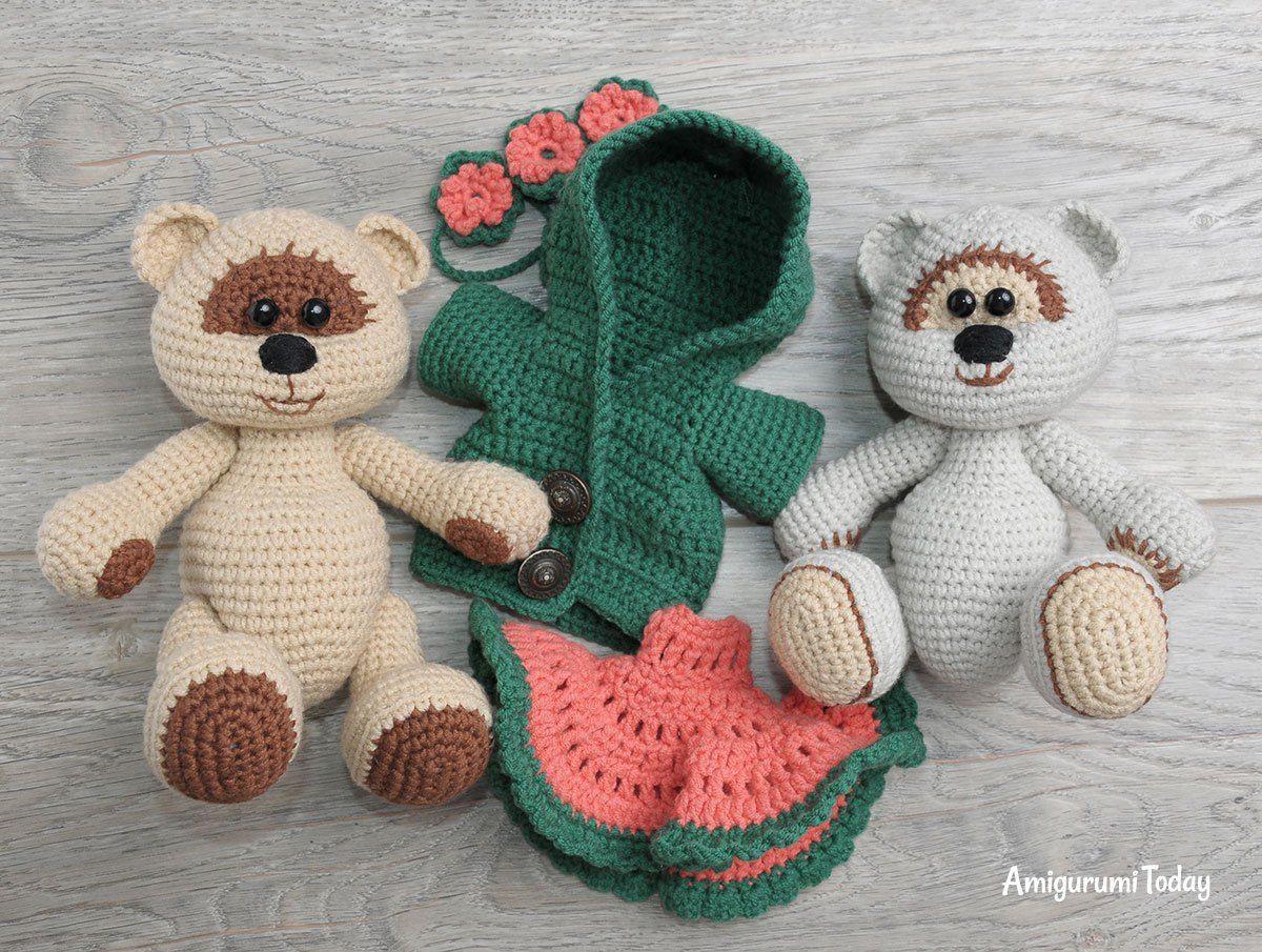 Amigurumi Crochet Patterns Teddy Bears : Honey teddy bears in love crochet pattern honey bear free