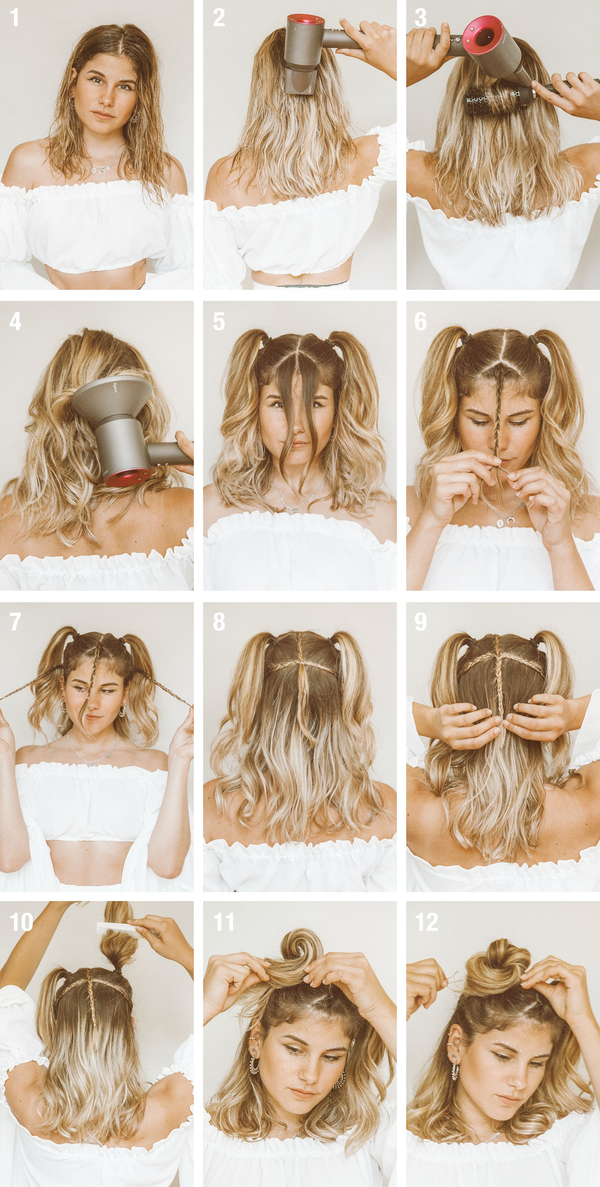 Tutorial Quick Easy Festival Hairstyle For Short Hair Short Hair Styles Easy Cute Simple Hairstyles Short Hair Tutorial