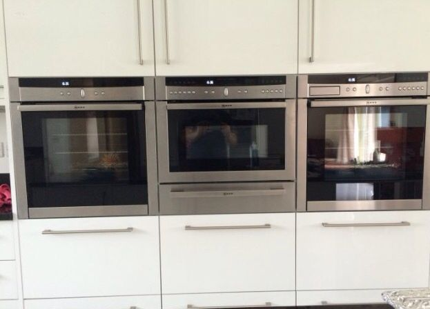 Neff Oven Set Up Two Single Ovens Microwave And Warming Drawer