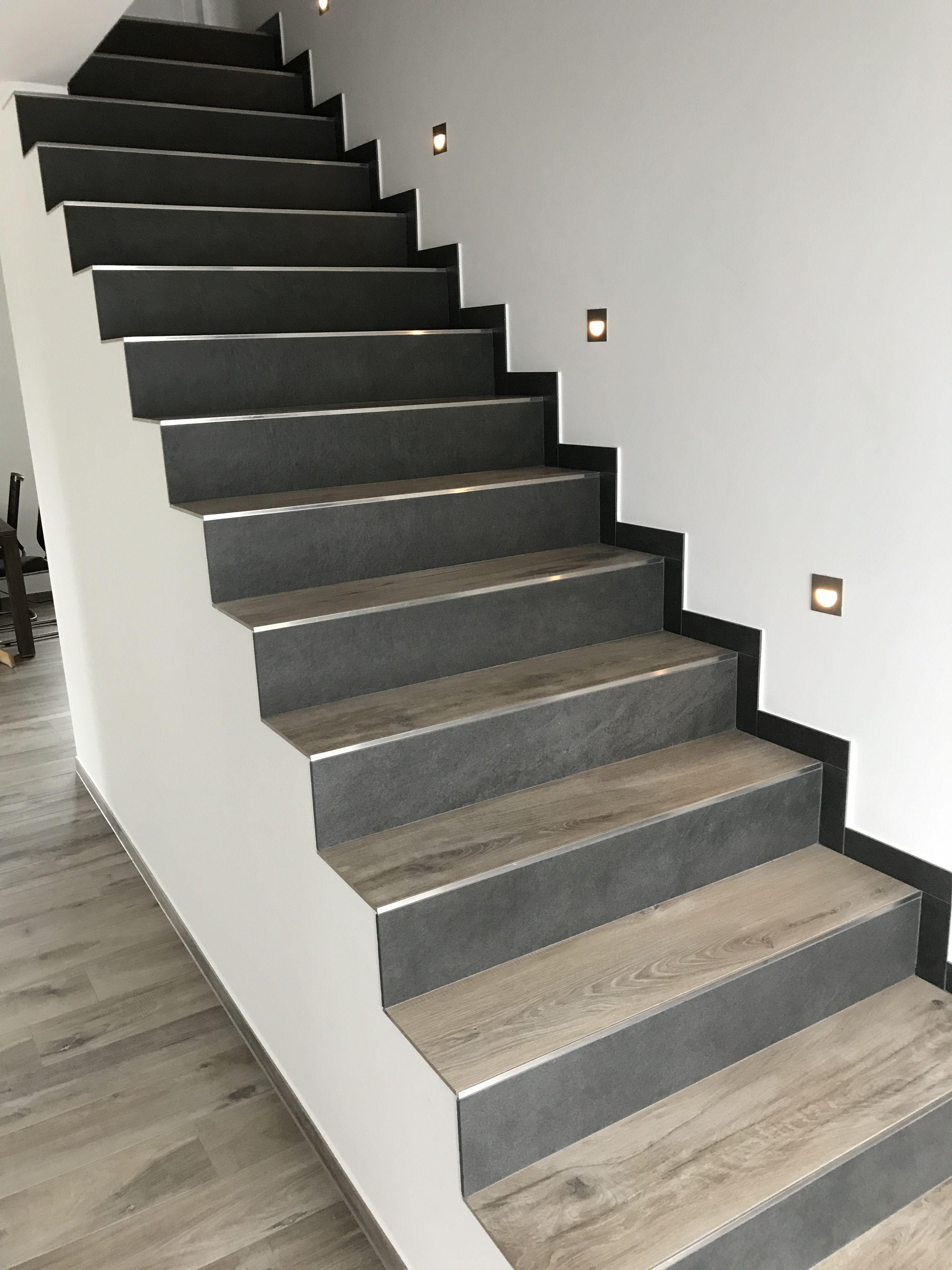Treppe Fliesen In Holzoptik Verschiedene Farben Schody Pinterest - Fliesen für treppenstufen holzoptik