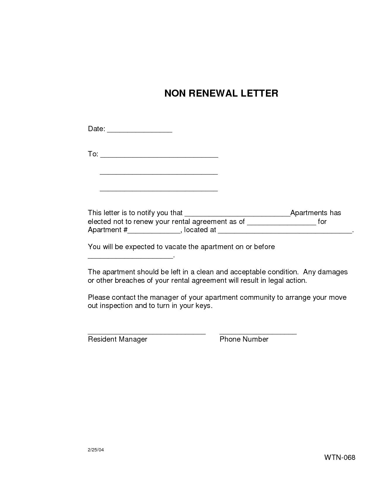 Lease non renewal letter sample dolapgnetband lease non renewal letter sample spiritdancerdesigns Choice Image