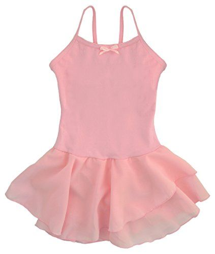 17349ee93 Dancina Girls  Leotard Dress Classic Camisole Ballet Cotton with ...