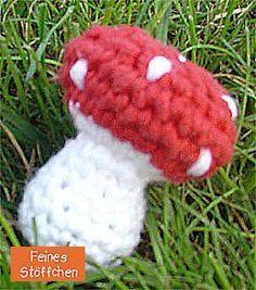 Häkel Fliegenpilz Anleitung Häkeln Pinterest Crochet Knitting