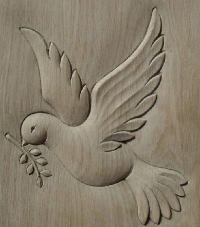 Peace Bird Tallado En Madera Arte De Talla De Madera Como Tallar Madera